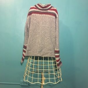 Mock neck Patterned Sweater